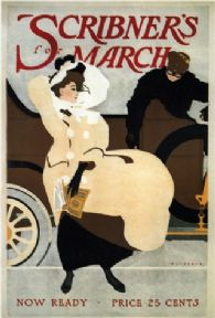 Vintage Scribner's Magazine cover for March